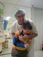 Crazy Dad scares hospital patient