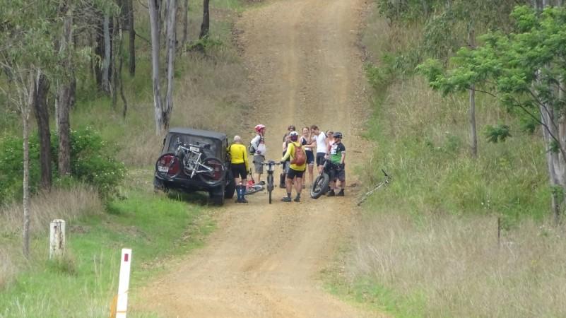 Crash on Spicers Gap Road