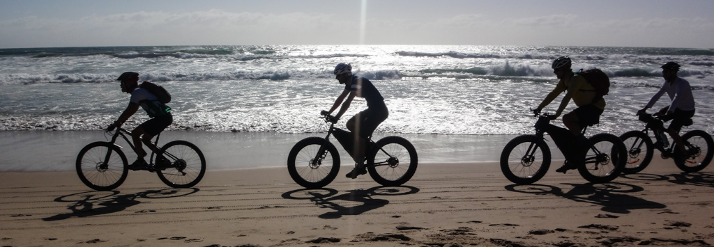 Bikes on Coolum Beach