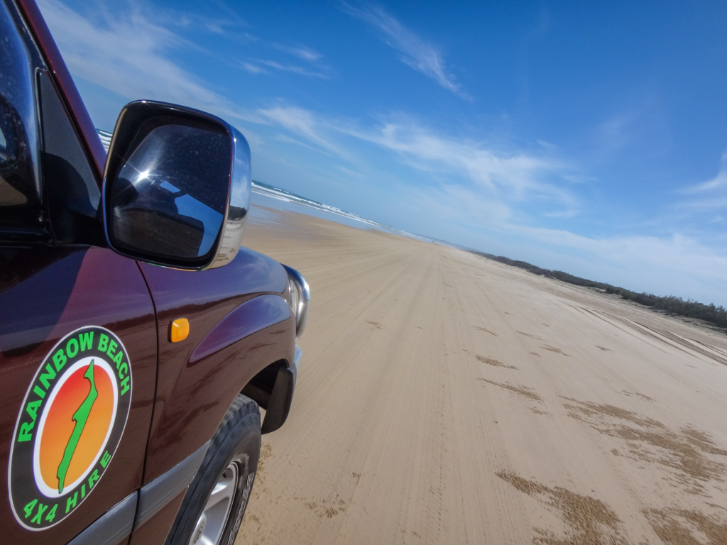 Driving on Fraser Island