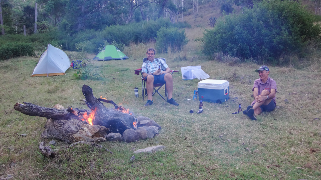 Camping at Wombi Creek